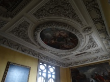 the ceiling above the staircase