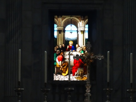 Stained glass in the cathedral