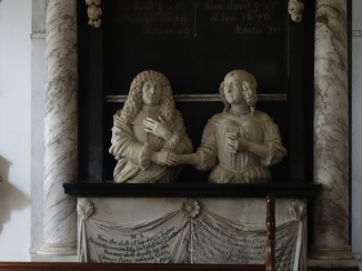 In the church - the 17 th century crypt