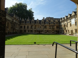 View of part of the court at Oriel College
