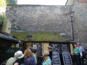 Remaining Saxon wall and the Turf Pub