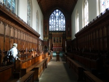 inside the chapel Queens College