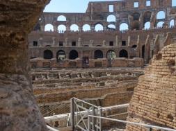 across the arena