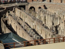 the underground passages under the arena