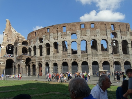 Approaching the Colosseum
