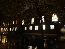 Temple Church by night