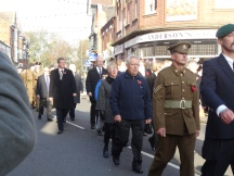 WW1 uniformed marcher