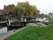 View of the entry to the Shardlow basin