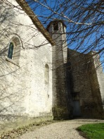 southern wall of church