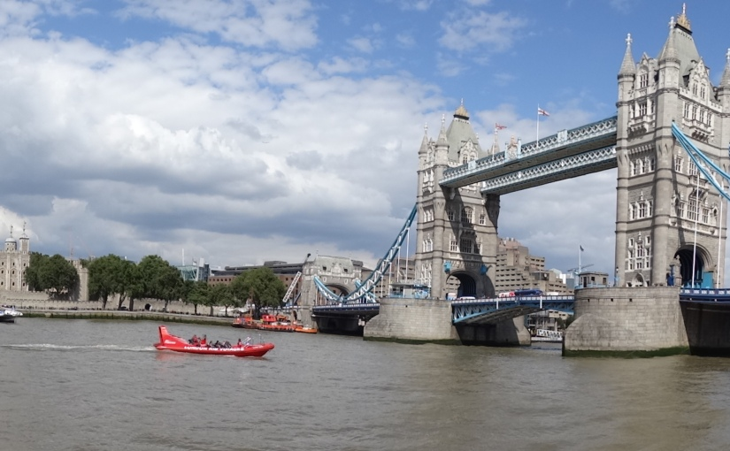 The Retirees go Abroad – London in July – Tower Bridge and GlobeTheatre