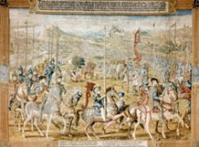 tapestry Magazine of Troops Barcelona 16th century