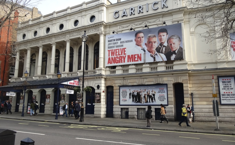 """The Retirees go Abroad – France, Norway, UK and Ireland – """"Twelve Angry Men"""" at the GarrickLondon"""