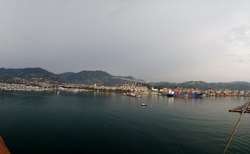 The Retirees return to Italy – On board the SS Costa Diadema – LaSpezia.