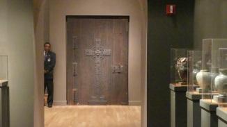Doorway to the glass chapel